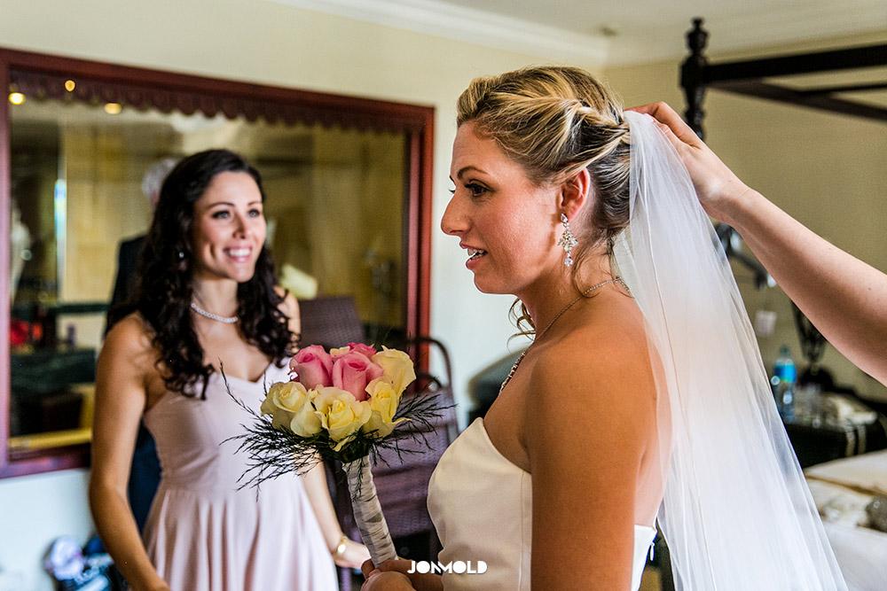Bride getting ready Bahia Principe Cayo Leventado Resort Wedding