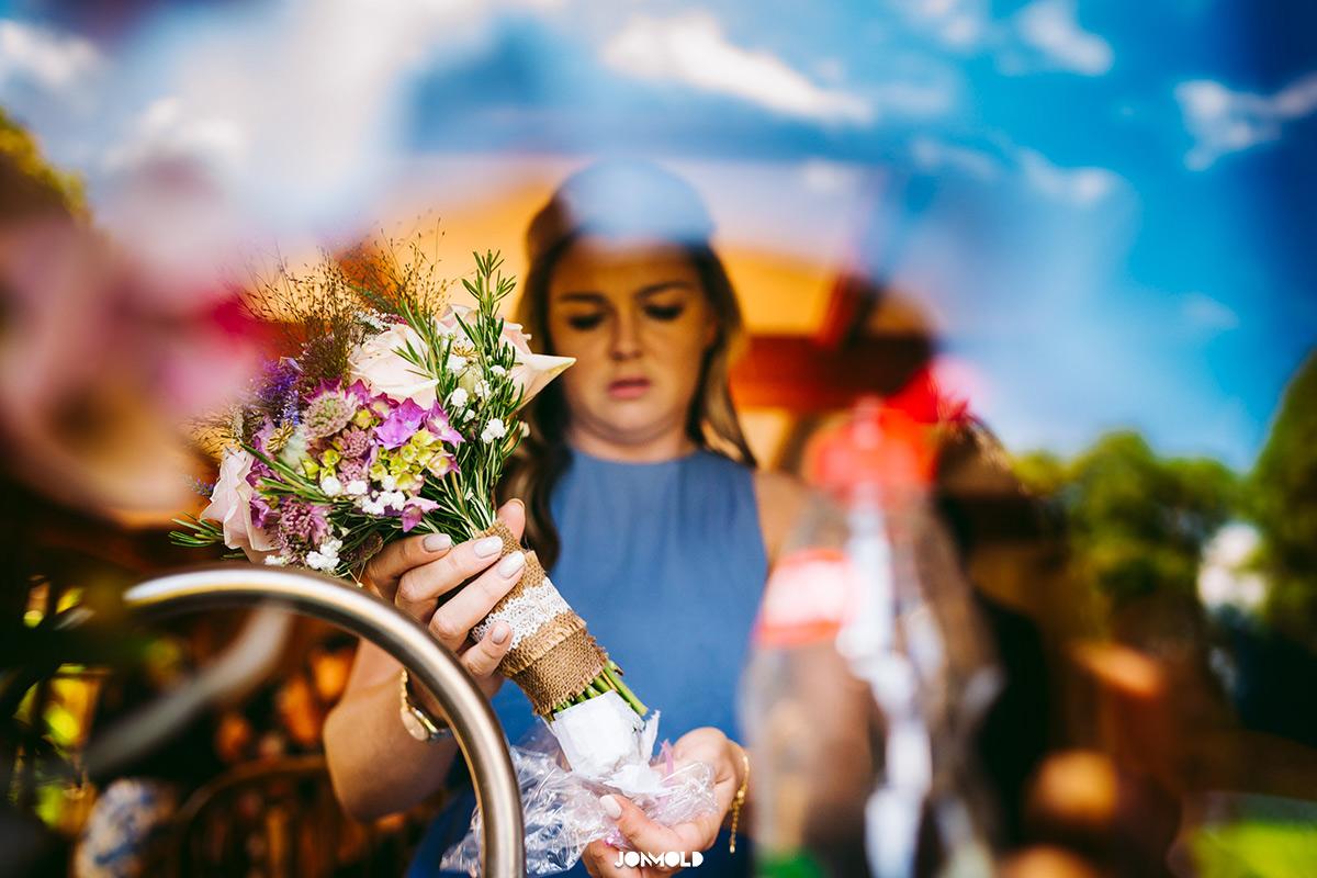 bridemaid watering boquette
